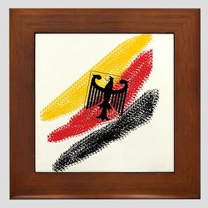 Germany deutschland Soccer Eagle Framed Tile