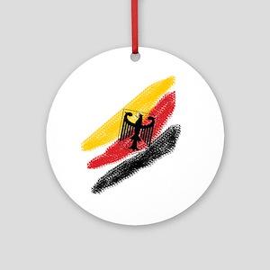 Germany deutschland Soccer Eagle Ornament (Round)