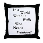 World Without Walls Throw Pillow