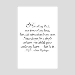 Not flesh of my flesh... Mini Poster Print