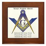 Masonic History Framed Tile
