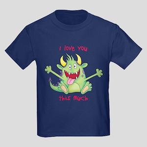 Valentine Monster Kids Dark T-Shirt