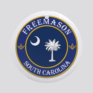 South Carolina Masons Ornament (Round)