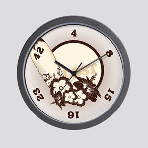 Lost on the Island Wall Clock