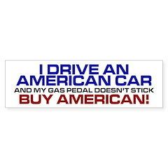 American Car Bumper Bumper Sticker