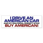 American Car Bumper Sticker