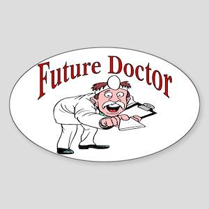 Future Doctor Oval Sticker