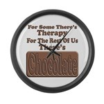Chocolate Therapy Large Wall Clock
