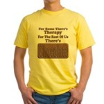 Chocolate Therapy Yellow T-Shirt