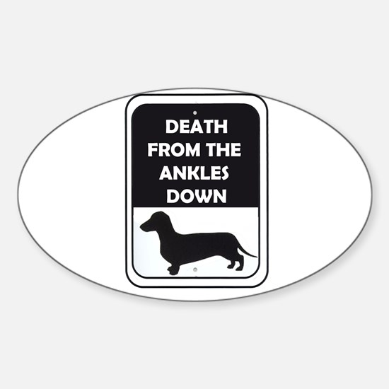 Ankle Death Sticker (Oval)