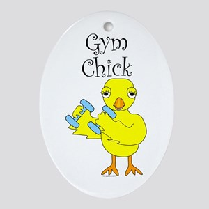 Gym Chick Ornament (Oval)