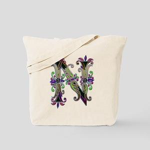 Letter N art edit monogram on; Tote Bag