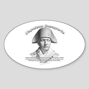 Napoleon Bonaparte 02 Oval Sticker
