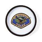 Placentia California Police Wall Clock