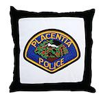 Placentia California Police Throw Pillow