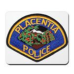 Placentia California Police Mousepad