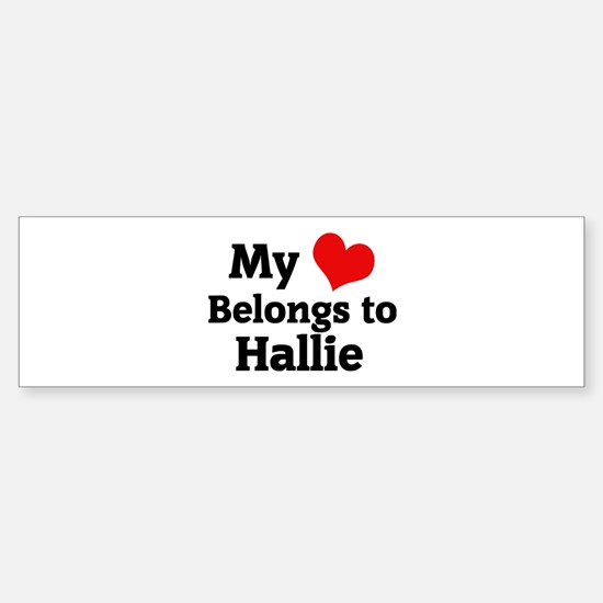 My Heart: Hallie Bumper Car Car Sticker