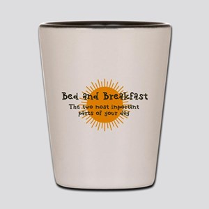 Bed and Breakfast Shot Glass