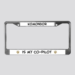 Co-pilot: Komondor License Plate Frame