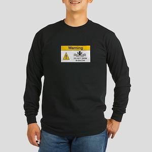Funny Bacon Warning Long Sleeve Dark T-Shirt