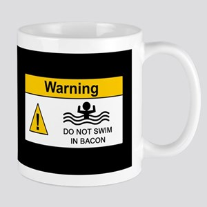 Funny Bacon Warning Mug