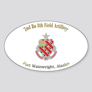 2nd Bn 8th FA Sticker (Oval)
