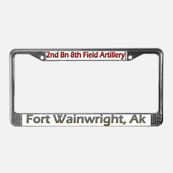 2nd Bn 8th FA License Plate Frame
