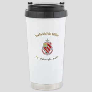 2nd Bn 8th FA Stainless Steel Travel Mug