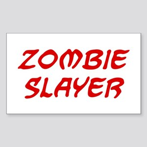 Zombie Slayer Sticker (Rectangle)