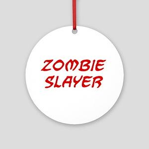Zombie Slayer Ornament (Round)