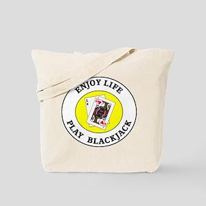 Enjoy Life Play Blackjack Tote Bag