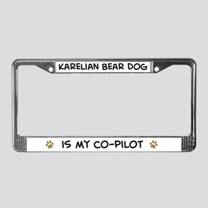 Co-pilot: Karelian Bear Dog License Plate Frame
