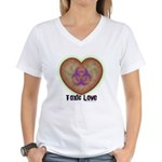 Toxic Love Women's V-Neck T-Shirt