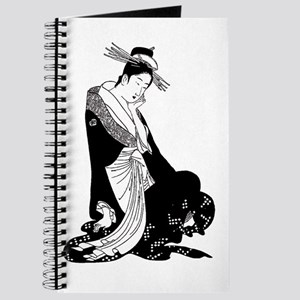 Geisha and rising sun inspired design Journal