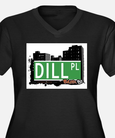 Dill Pl, Bronx, NYC Women's Plus Size V-Neck Dark