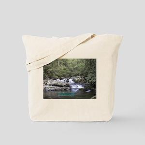 Waterfall w/poem Tote Bag