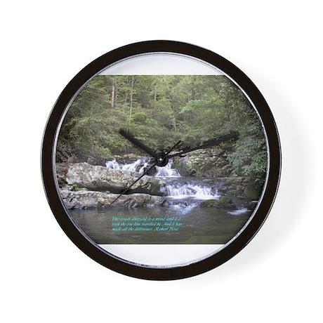 Waterfall w/poem Wall Clock