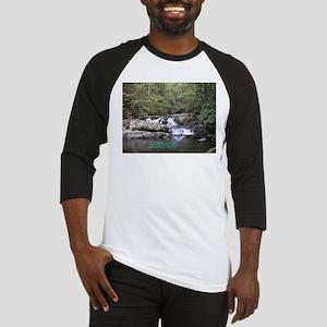 Waterfall w/poem Baseball Jersey