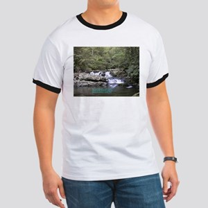 Waterfall w/poem Ringer T