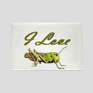 I love grasshoppers Rectangle Magnet