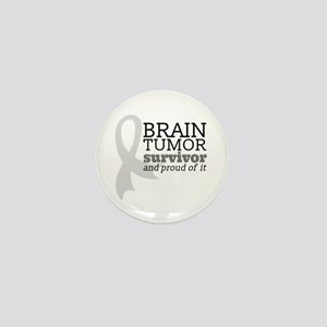 Proud Brain Tumor Survivor Mini Button