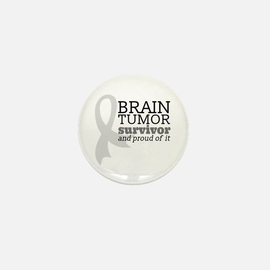 Proud Brain Tumor Survivor Mini Button