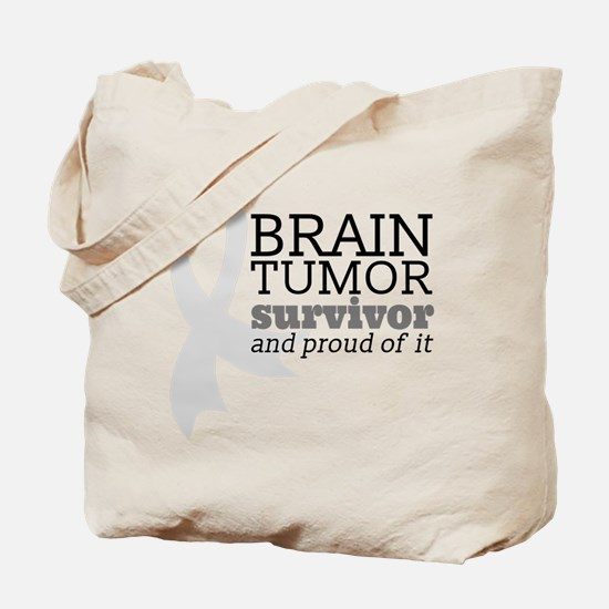 Proud Brain Tumor Survivor Tote Bag