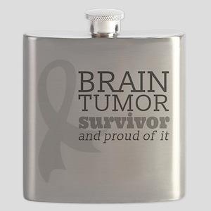 Proud Brain Tumor Survivor Flask