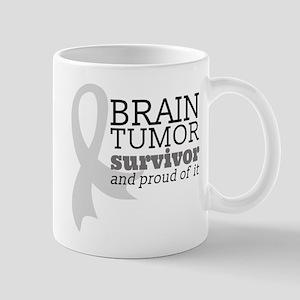 Proud Brain Tumor Survivor Mugs