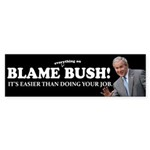 Blame Everything On Bush Sticker (Bumper 10 pk)