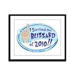 2010 Blizzard Framed Panel Print