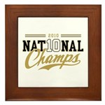 2010 National Champs Framed Tile