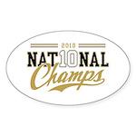 2010 National Champs Sticker (Oval 50 pk)