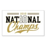 2010 National Champs Sticker (Rectangle 10 pk)